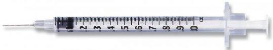 Шприц лейко (leiko) туберкулин 0,45х12мм 1 мл, фото №1