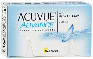 Акувью адванс линзы контактные r8,7 -2,75 6 шт. джонсон & джонсон