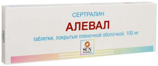 Алевал 100мг 14 шт. таблетки покрытые пленочной оболочкой, фото №1