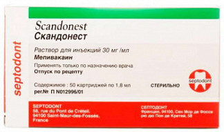 Скандонест 30мг/мл 1,8мл 50 шт. раствор для инъекций картридж