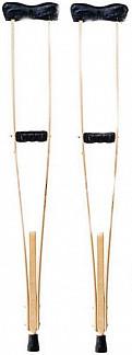 Аверсус костыли деревянные для взрослых с мягкими чехлами на подмышечники и ручки с упс арт.749м 2 шт.