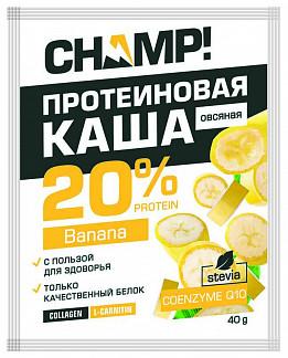 Чамп каша овсяная протеиновая банана/коэнзим q10 40г