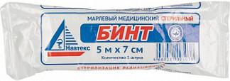Лайф бинт марлевый медицинский стерильный 7х14см (по ту 9393-004-10715071-2014) 1 шт.