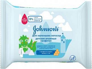 Джонсонс беби пюр протект салфетки влажные антибактериальные 25 шт. джонсон & джонсон