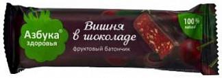 Азбука здоровья батончик вишневое желе в шоколаде