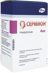 Сермион 4мг 4 шт. порошок для приготовления раствора для инъекций