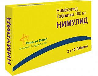 Нимулид 100мг 20 шт. таблетки