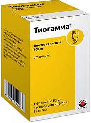 Тиогамма 12мг/мл 50мл 1 шт. раствор для инфузий