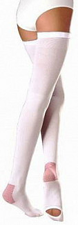 Венотекс чулки компрессионные с силиконовым фиксатором и открытым носком 1a210 (401) m белый