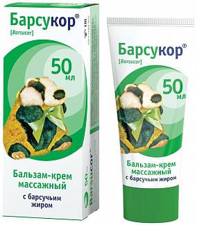 Барсукор крем-бальзам для взрослых массажный 50мл