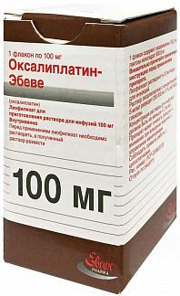 Оксалиплатин-эбеве 100мг 1 шт. лиофилизат для приготовления раствора для инфузий эбеве фарма
