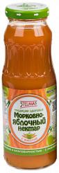 Стэлмас нектар морковно-яблочный 0,25л упаковка