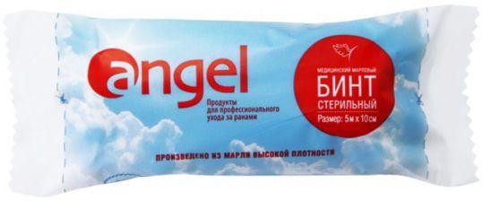 Ангел бинт стерильный медицинский марлевый 5мх10см, фото №1