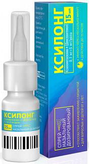 Ксилонг 0,1мг+5 мг/доза 15мл спрей назальный дозированный