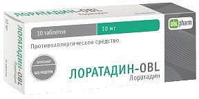 Лоратадин-obl 10мг 10 шт. таблетки