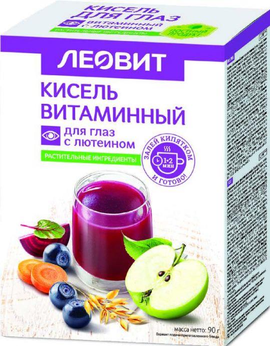 Леовит биоинновации кисель диетический витаминный для глаз с лютеином 18г 5 шт., фото №1