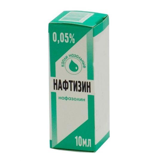 Нафтизин 0,05% 10мл капли назальные флакон -капельница, фото №1
