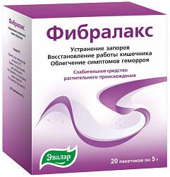 Фибралакс 5г 20 шт. порошок для приготовления раствора для приема внутрь эвалар