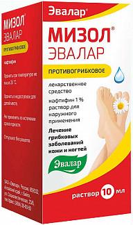 Мизол эвалар 1% 10мл раствор для наружного применения эвалар