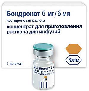 Бондронат 6мг 6мл концентрат для приготовления раствора для инфузий