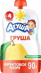 Агуша пюре яблоко 4+ 90г мягкая упаковка