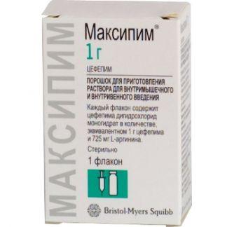Максипим 1г n1 порошок д/приготовления р-ра д/инъекций