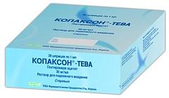 Копаксон-тева 20мг/мл 1мл 28 шт. раствор для подкожного введения