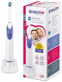 Би велл зубная щетка электрическая pro-820 с 2 насадками