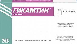 Гикамтин 4мг/5мл 5 шт. лиофилизат для приготовления раствора для инфузий glaxosmithkline manufacturing s.p.a.