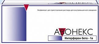 АВОНЕКС 30мкг N4 лиофилизат д/приготовления р-ра для в/м введения