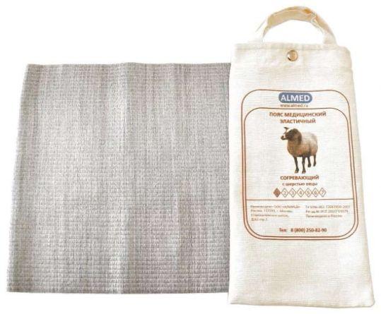 Альмед пояс эластичный согревающий с шерстью овцы разъемный размер 6/xxl (99-109см), фото №1