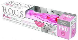 Рокс про беби набор для малышей зубная паста минеральная защита и нежный уход 45г+зубная щетка