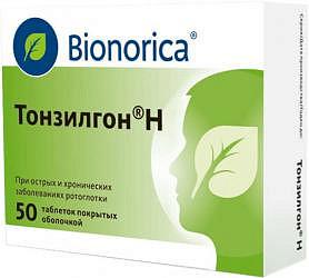 Тонзилгон н 50 шт. таблетки покрытые оболочкой