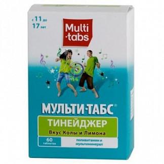 Мульти-табс тинейджер 60 шт. таблетки жевательные кола-лайм