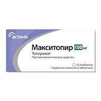 Макситопир 100мг 10 шт. таблетки покрытые пленочной оболочкой