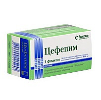 Цефепим 1г 1 шт. порошок для приготовления раствора для инъекций