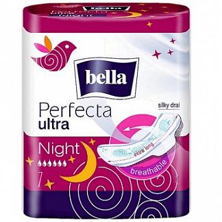 Белла перфекта ультра прокладки гигиенические супертонкие найт 7 шт.