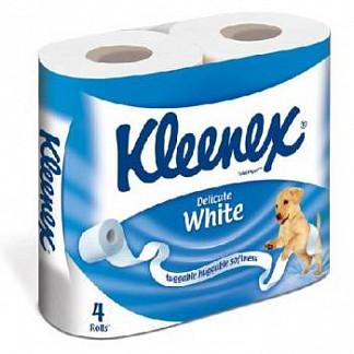 Клинекс бумага туалетная 4 шт. белая