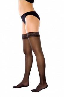 Венотекс чулки компрессионные женские прозрачные с ажурным верхом 74 s черный