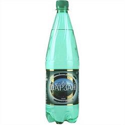 Нарзан вода минеральная газированная 1л бутылка пэт.