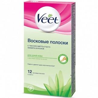 Вит полоски восковые для депиляции для сухой кожи 12 шт.