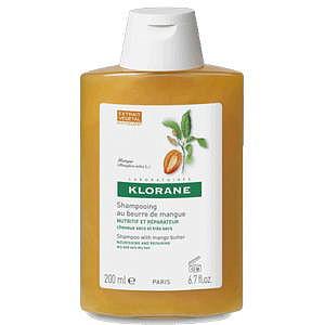Клоран шампунь для сухих и поврежденных волос с маслом манго 200мл