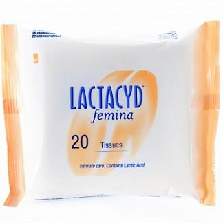 Лактацид салфетки для интимной гигиены 20 шт.