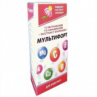 Мультифорт таблетки шипучие для взрослых 14 шт.