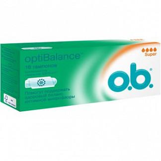О.б. оптибаланс тампоны супер 16 шт.