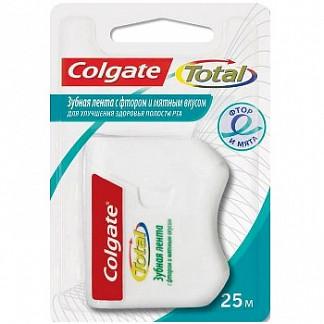 Колгейт тотал зубная нить с фтором мятная 25м