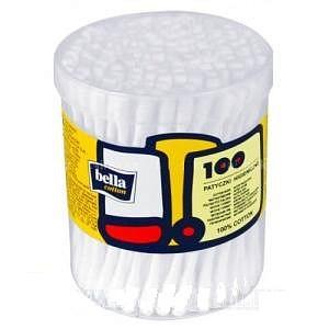 Белла коттон кеа ватные палочки апельсин/д-пантенол круглая упаковка 100 шт.