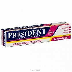 Президент антибактериал зубная паста мощная защита от бактерий 50мл