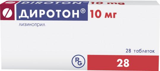 Диротон 10мг 28 шт. таблетки, фото №1