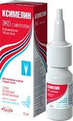Ксимелин эко с ментолом 140мкг/доза 10мл спрей назальный дозированный